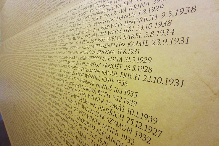 names of captives who died at Terezin Concentration Camp