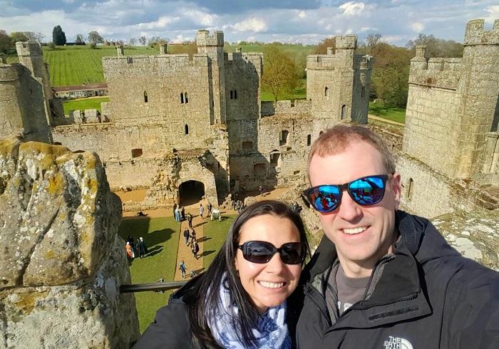 Climbing the towere walls inside Bodiam Castle England History