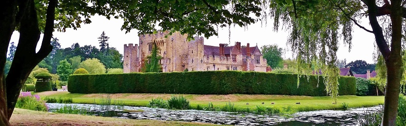 View of Hever Castle from the surrounding grounds