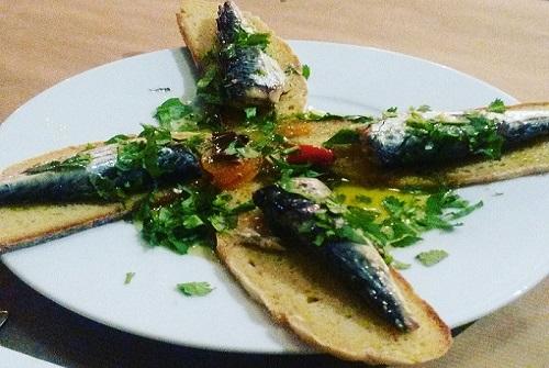 mackerel tapas dish