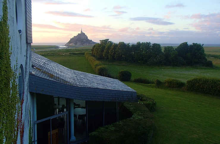View of Mont St Michel from our hotel room