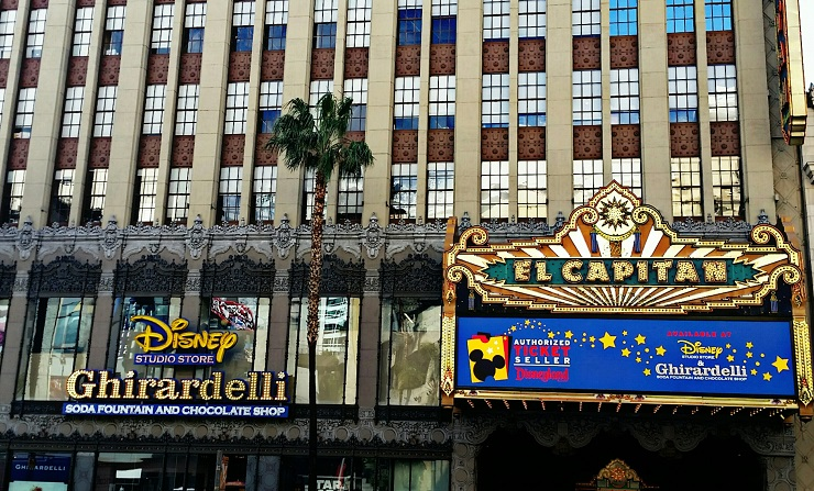 Outside of the El Capitan theatre - roosevelt hotel hollywood