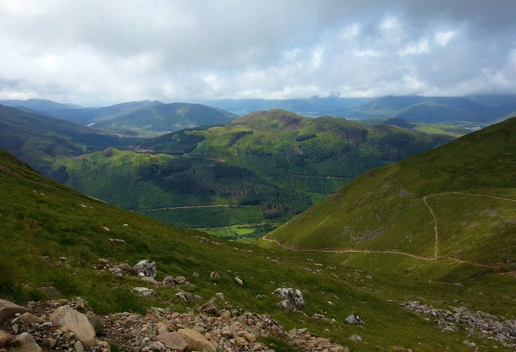 mountain views from the route up Ben Nevis