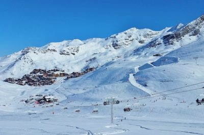 Snow covered ski fields of Val Thorens