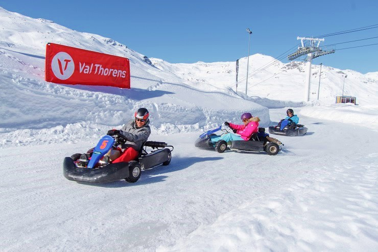 Ice driving in go karts - Val Thorens Ski Resort