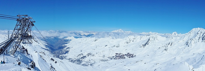 Panoramic view over Val Thorens