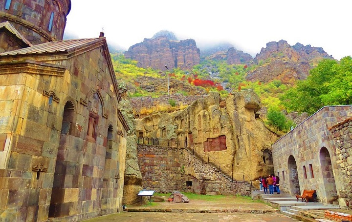 rocky hills at geghard monastery
