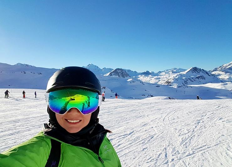 A selfie on the ski slopes of Val d'lsere