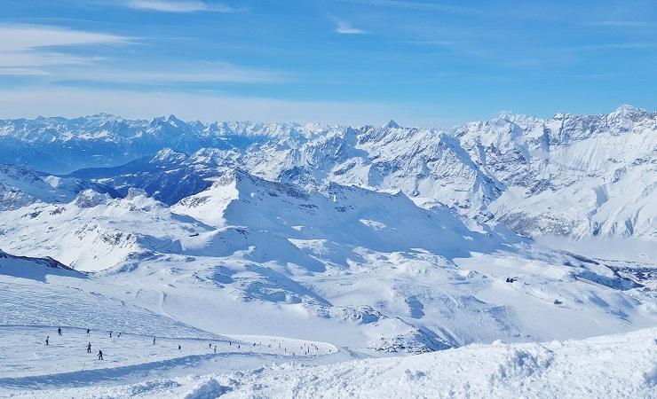 Overlooking the ski slopes of Breuil-Cervinia