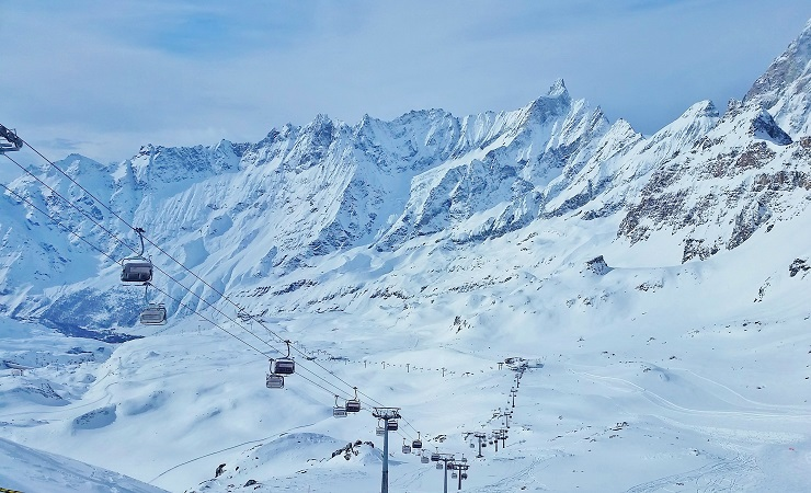 overlooking Cervinia ski area
