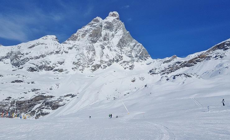 Ski run under the Matterhorn