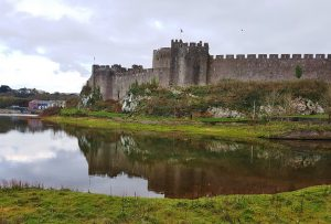 On the river Pembroke Castles History Wales UK