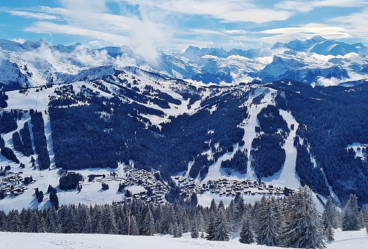 View over the snow covered Alps