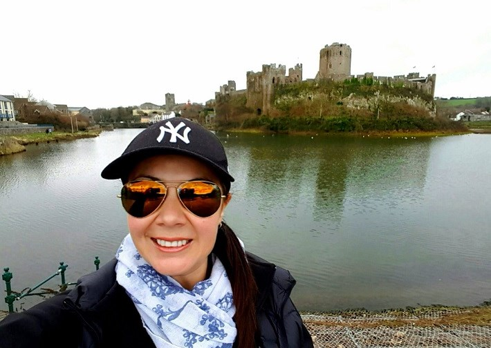 In front of Pembroke Castle Wales UK History