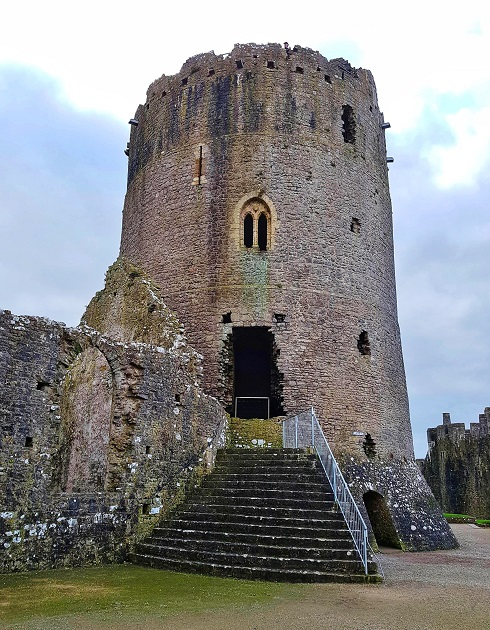 The Great Tower or Keep Pembroke Castle Wales UK History