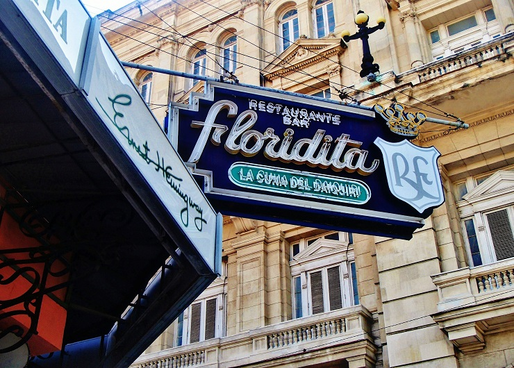Sign to Floridita bar