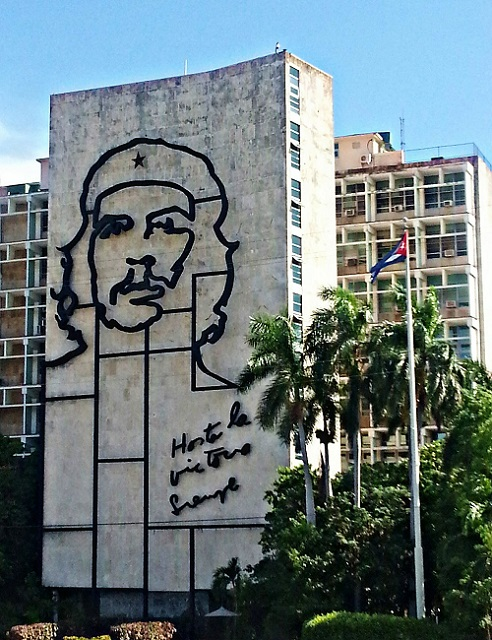 Portrait of Che Guevara on the outside of building