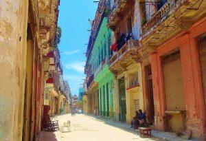 Old town street of Havana, Cuba