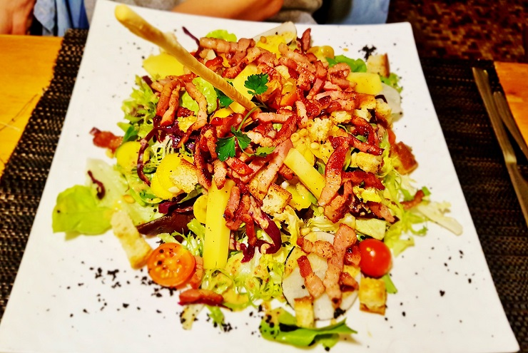 delicious salad from Le Nord Cafe Restaurant
