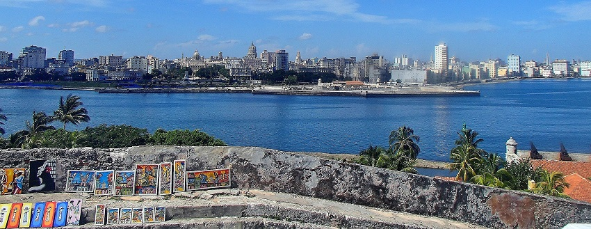 Overlooking the port to Havana