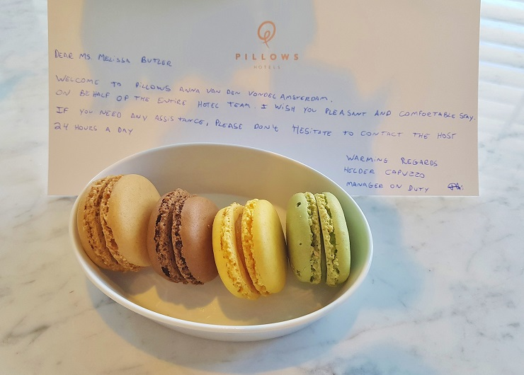Welcome Plate of Macarons, Pillows Hotel Amsterdam