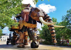 Mechanical elephant in Nantes France