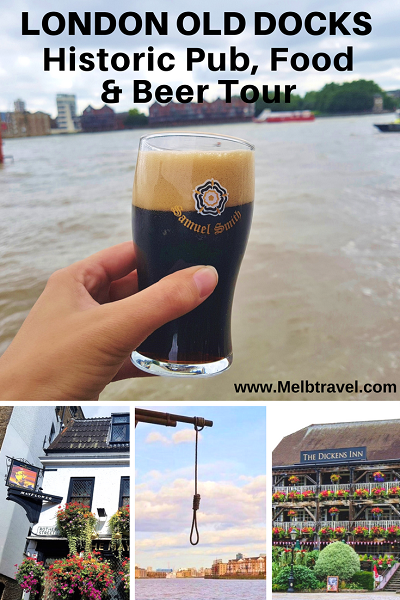 Pinterest, London Old Docks historic pub, food and beer tour