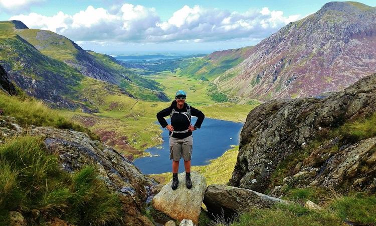 Hiking trails Tryfan, Snowdon Wales UK