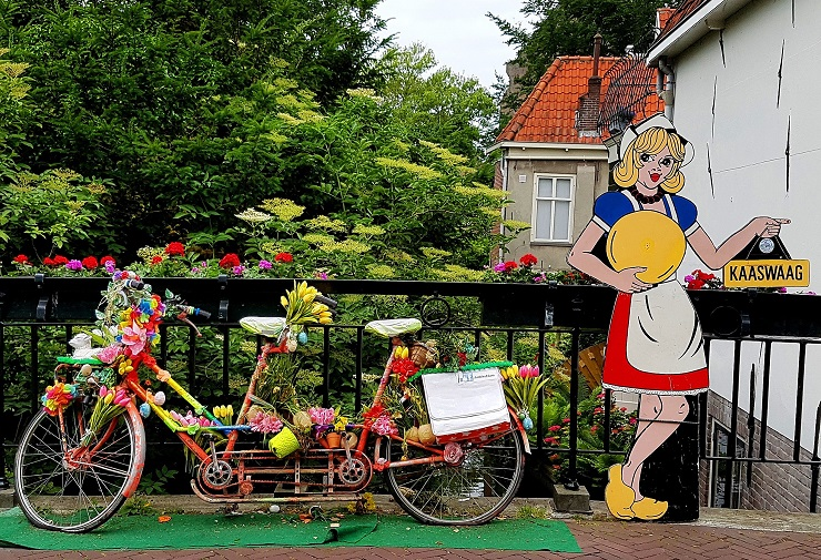 Colourful tandem bicycle