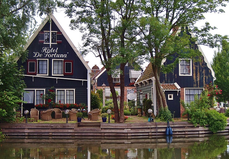 Waterfront Hotel built in traditional Dutch style - edam holland