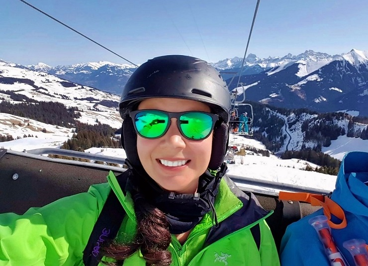 A selfie on the chairlift in Champery
