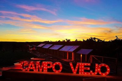 Campo Viejo Winery at sunset