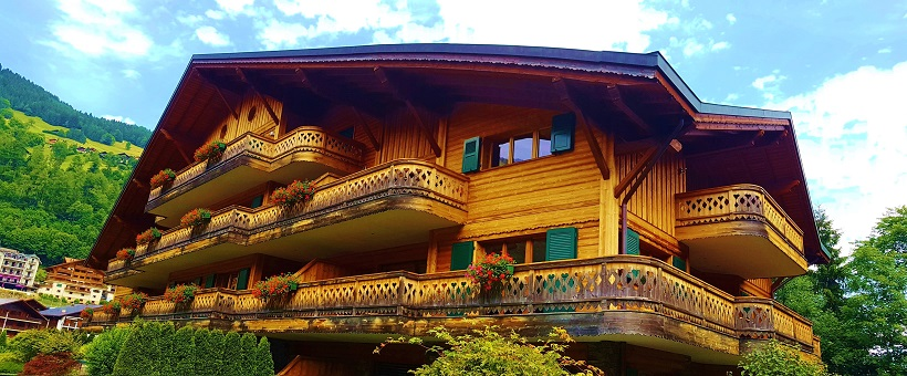 The Lodge luxury ski Chalet from the outside