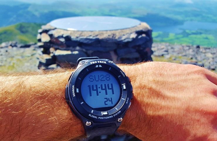 Casio ProTrek smart watch at the summit of Skiddaw