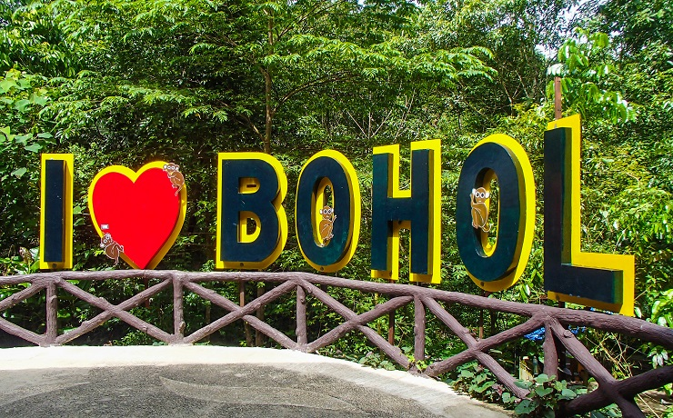 I love Bohol sign