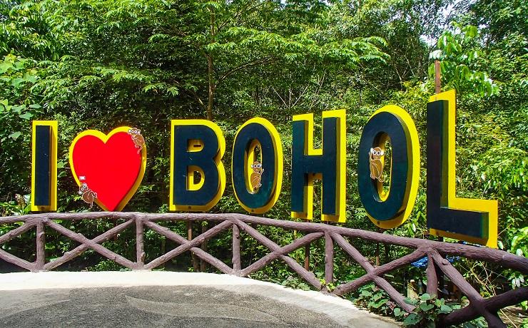 I love Bohol sign