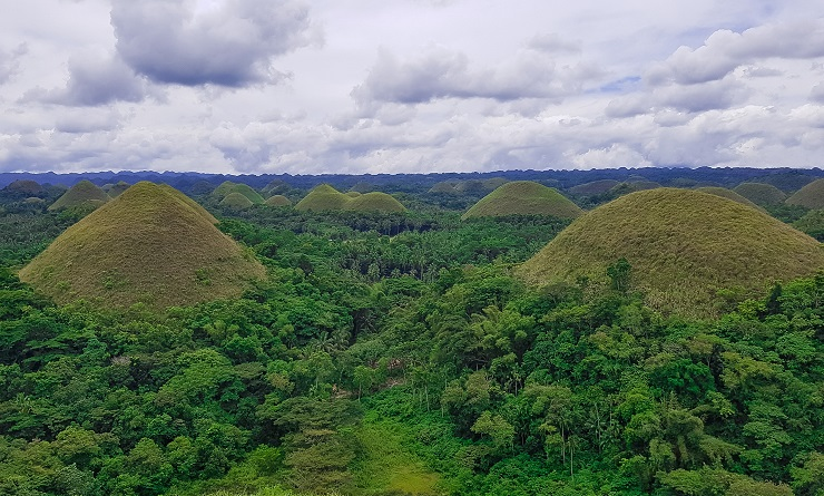 The chocolate hills of Bohol Philippines