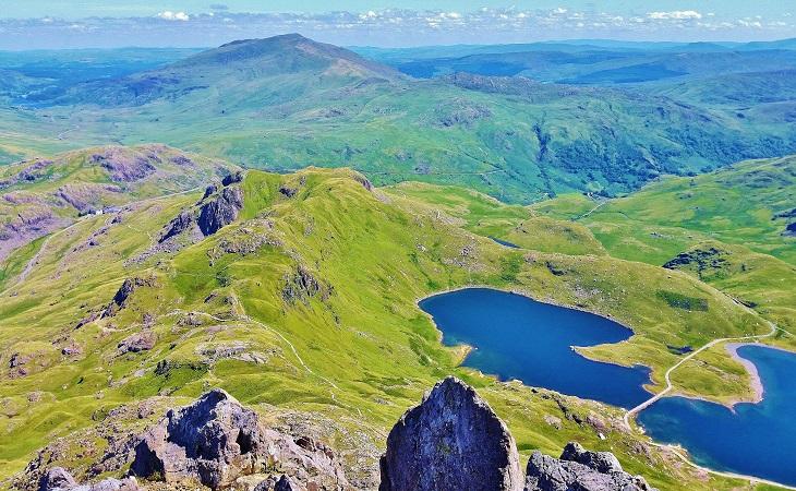 Scrambling in Snowdonia Wales