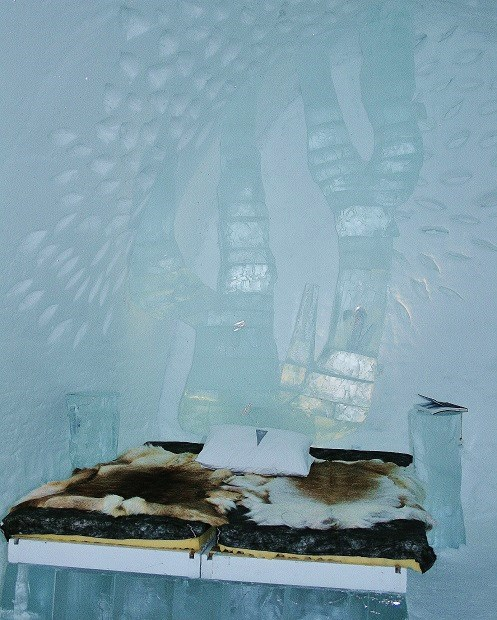 Ice sculptured bedroom
