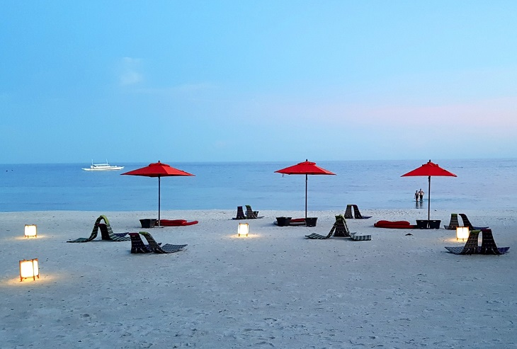Evening on the beach in Bohol Philippines