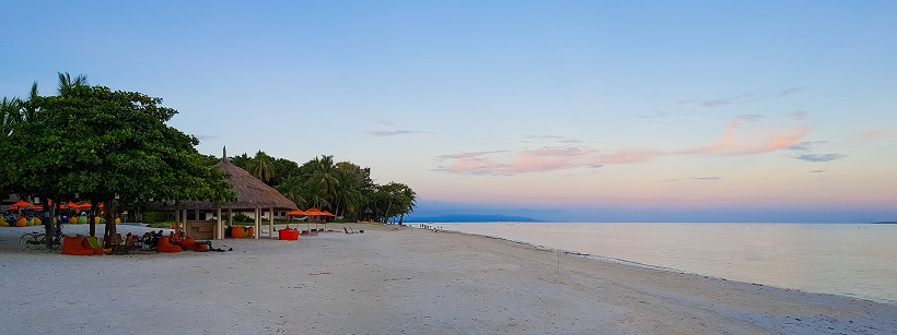 Sunset on the beach in Bohol, Philippines