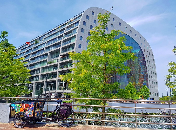 The arch shaped building of the Markthal