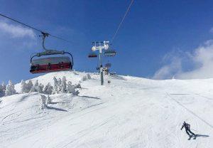 Eastern Europe ski slopes in Jahorina ski resort, Sarajevo