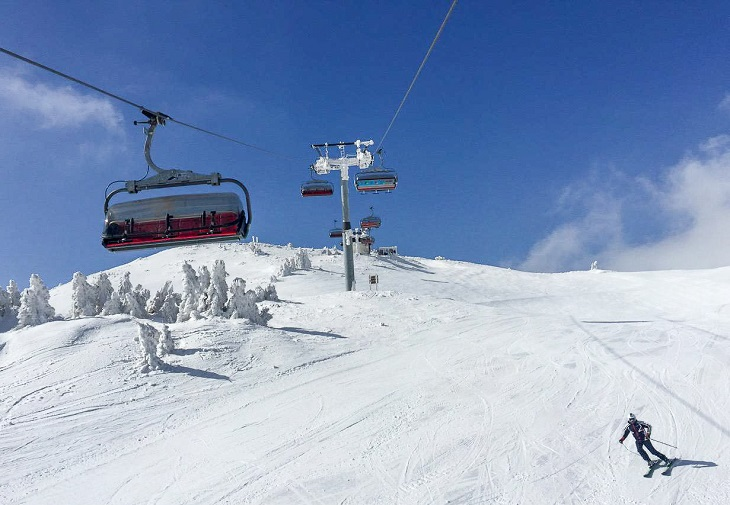 Eastern Europe ski slopes in Jahorina ski resort, Sarajevo