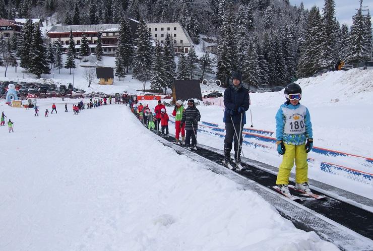 Children enjoying the beginner ski runs