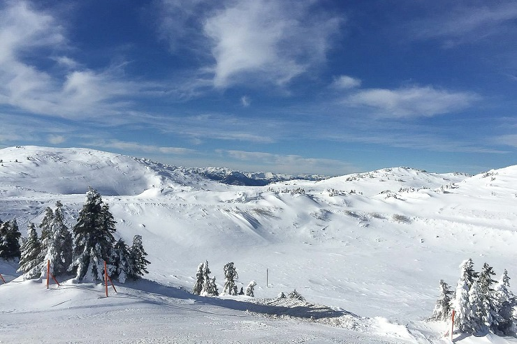 Snow covered ski fields of Jahorina Sarajevo