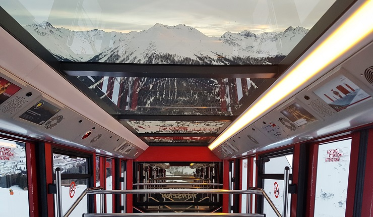 Inside the snow train