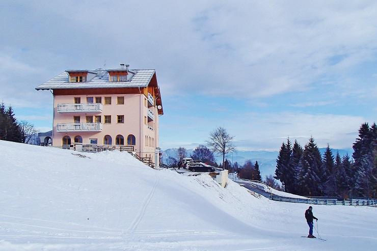 Lone hotel right next to the ski run