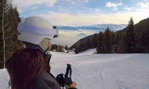Skiing Mont Bondone Italy