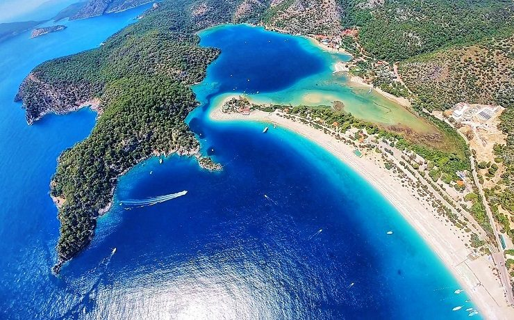 Aerial view of Turkey's Blue Lagoon